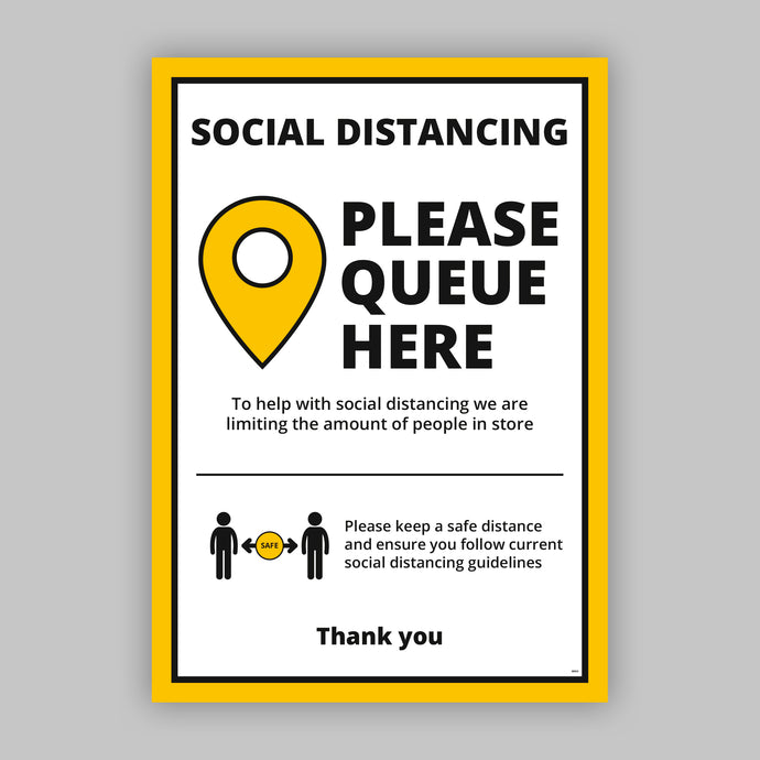 A2 Please Queue Here Posters (Retail) - No Distance Measure