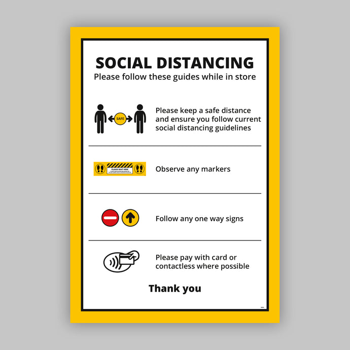 A2 Social Distancing Posters (Retail) - No Distance Measure