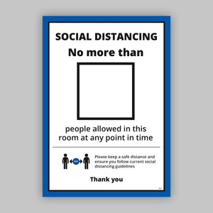 A3 Room Restriction Posters (Business) - No Distance Measure
