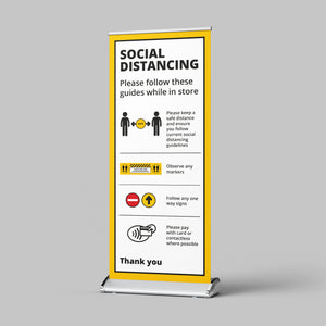 Pull Up Banner (Retail) - No Distance Measure
