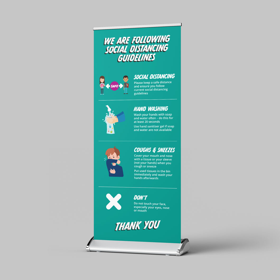 Pull Up Banner - Schools and Nurseries - No Distance Measure