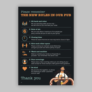A3 Window Clings - Pub Guidelines