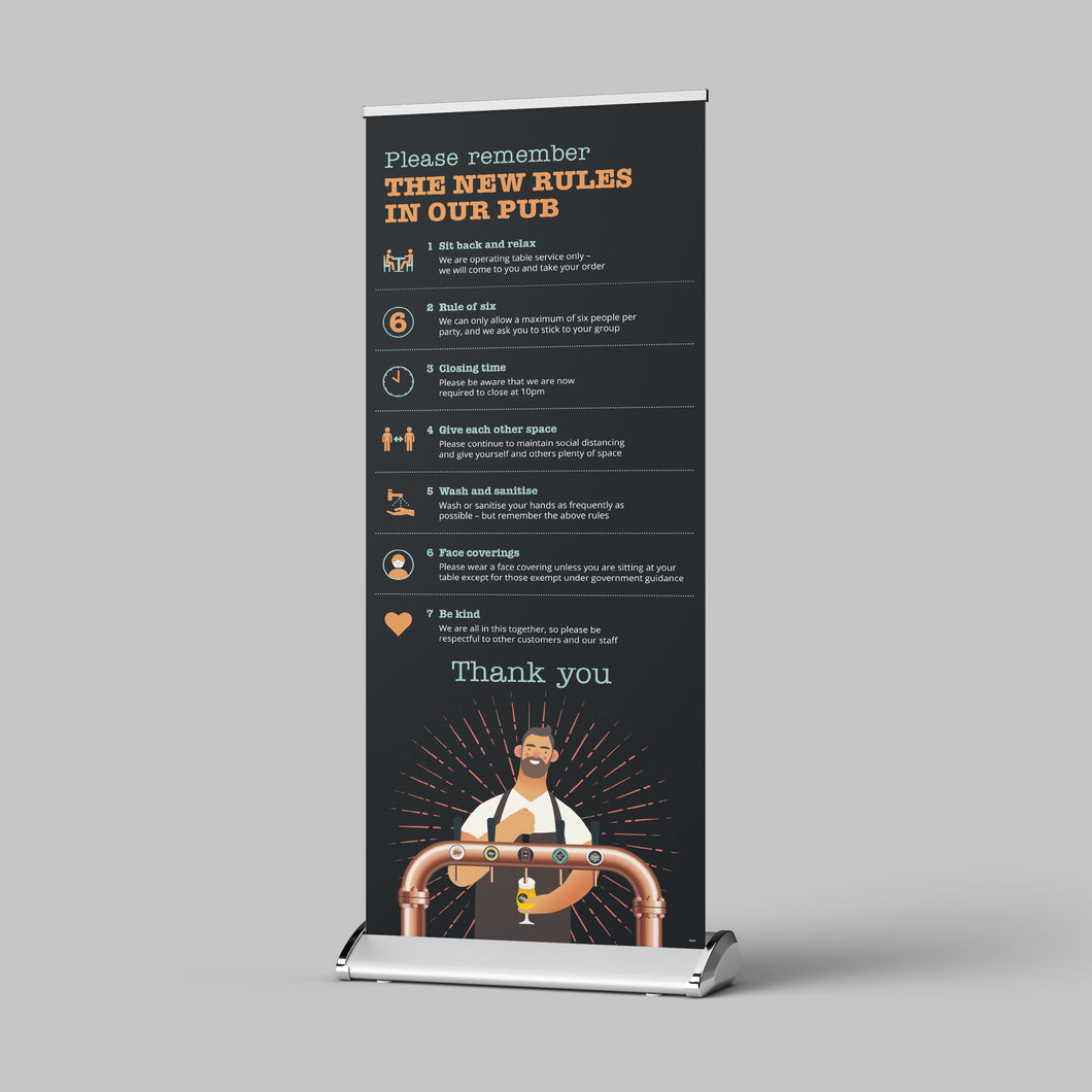 Pull Up Banner - Pub Guidelines