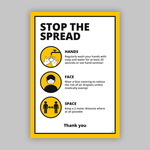 A2 Social Distancing Posters - Hands | Face | Space