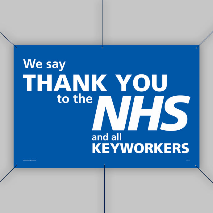 Support the NHS Outdoor Banner (Small)