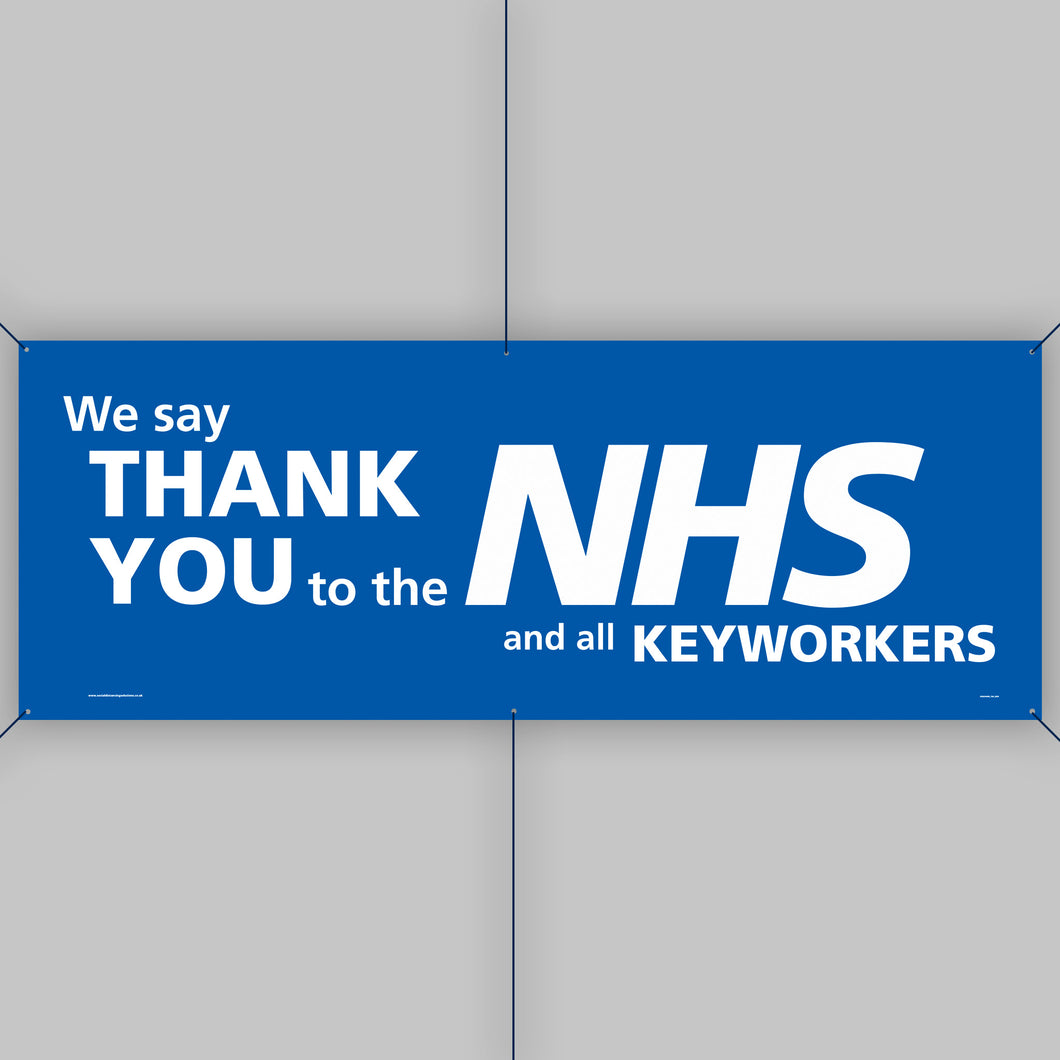 Support the NHS Outdoor Banner (Large)
