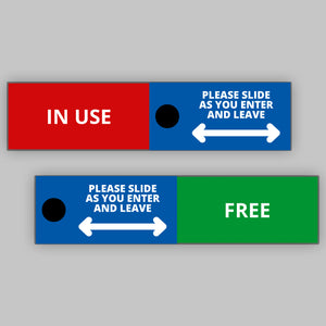 Toilet Door Slider - Blue