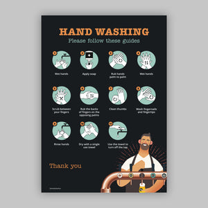 Pub Handwashing Instructions Pub - Self Adhesive Vinyl