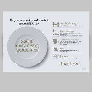 Disposable Placemats - Hotels