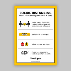 A2 Social Distancing Posters (Retail)