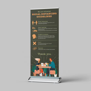 Pull Up Banner - Restaurants