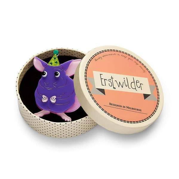 Erstwilder Chaz the Chinchilla Brooch