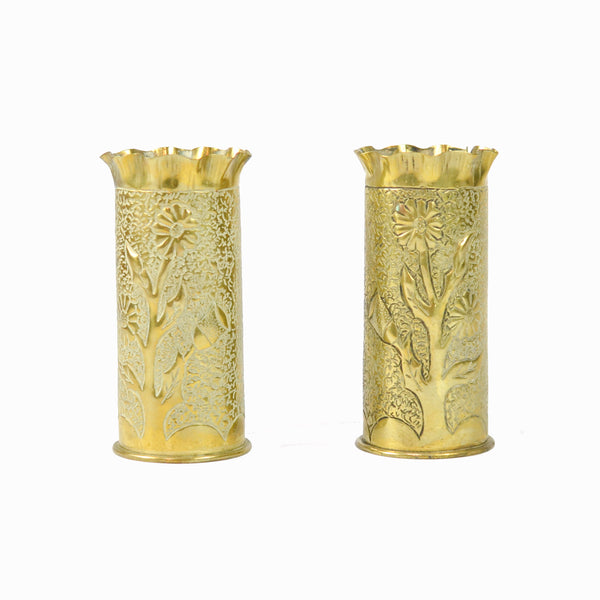 French WW1 Trench Art Vases