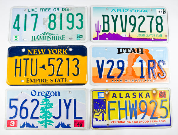 American State Number Plate