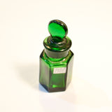 Green Glass Smelling Salts Bottle