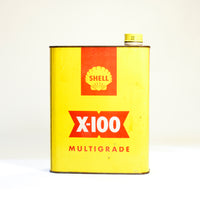 Shell X-100 1 Quart Tin Yellow