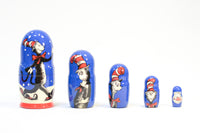 Cat in the Hat Russian Nesting Dolls