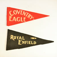 Vintage Motorcycle Pennant Flags