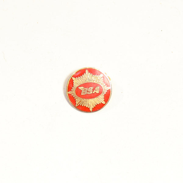 Vintage BSA Red Motorcycle Badge