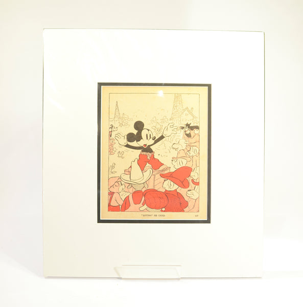 1940's Mickey Mouse Print
