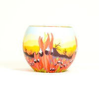 Glowing Glass Candle Holder Sturt Desert Pea