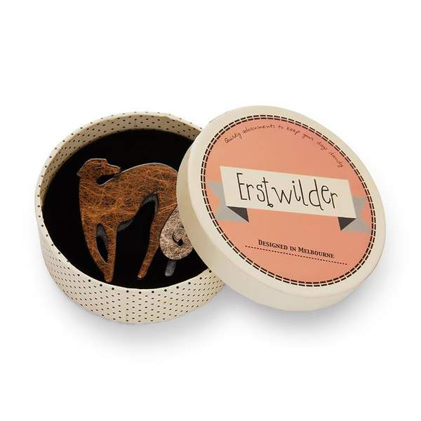 Erstwilder Autumnal Symphony Greyhound Brooch