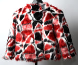 Faux Fur Bolero Red