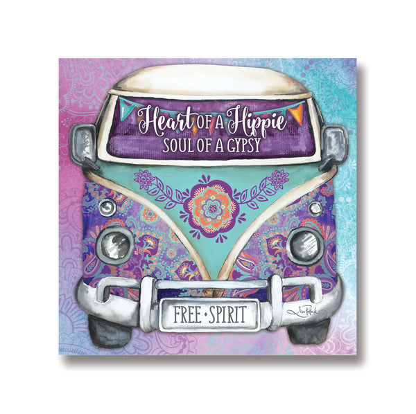 Kombi Canvas Purple and Grey