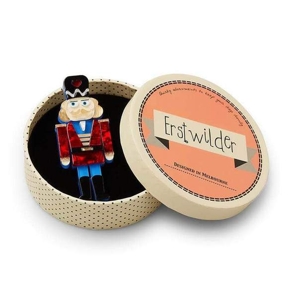 Erstwilder Tiny Tin Soldier Brooch