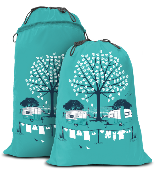 Caravan Expandable Laundry Bag Summer
