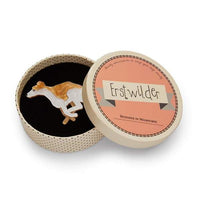 Erstwilder Weightless Whippet Brooch