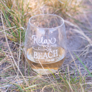 Beach Themed Wine Glasses Set of 2 - Sacha & Co