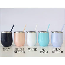 Load image into Gallery viewer, Beach Wine Tumbler with Straw - Sacha & Co