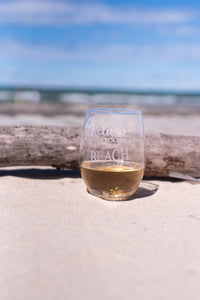 Copy of Life is Better at the Beach Wine Glasses - Sacha & Co