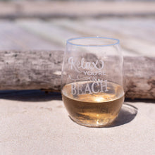 Load image into Gallery viewer, Copy of Life is Better at the Beach Wine Glasses - Sacha & Co