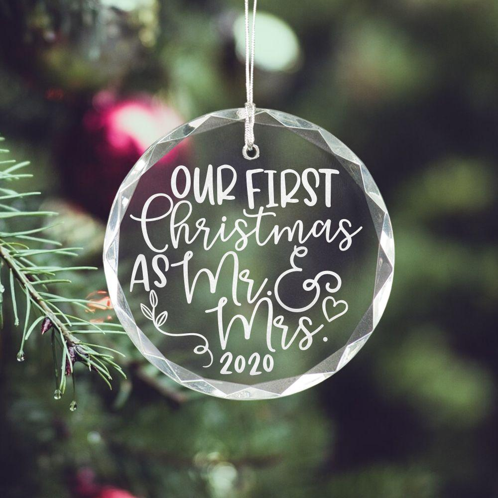 First Christmas Married Ornament - Sacha & Co