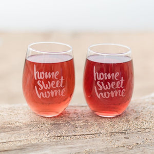Home Sweet Home Glasses - Set of 2 - Sacha & Co