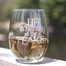Load image into Gallery viewer, Life is Better at the Lake Wine Glasses Set - Sacha & Co
