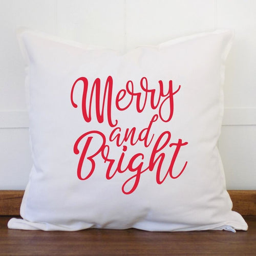 Merry and Bright Christmas Pillow Cover - Sacha & Co
