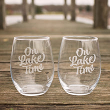 Load image into Gallery viewer, On Lake Time - Lake Drinking Glasses - Sacha & Co
