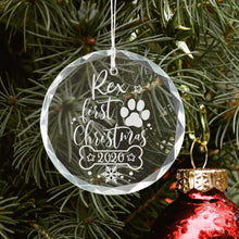 Load image into Gallery viewer, Personalized Dog First Christmas Ornament - Sacha & Co