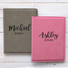 Load image into Gallery viewer, Personalized His and Hers Passport Cover Travel Set - Sacha & Co