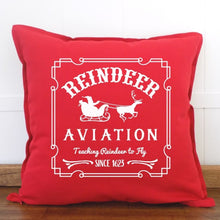 Load image into Gallery viewer, Reindeer Aviation Christmas Pillow Cover - Sacha & Co