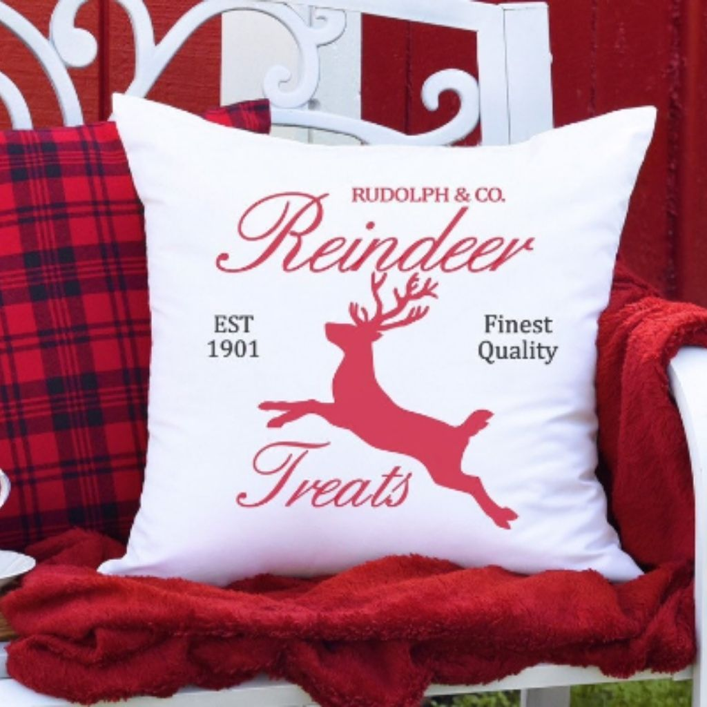 Reindeer Treats Christmas Pillow Cover - Sacha & Co