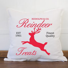 Load image into Gallery viewer, Reindeer Treats Christmas Pillow Cover - Sacha & Co