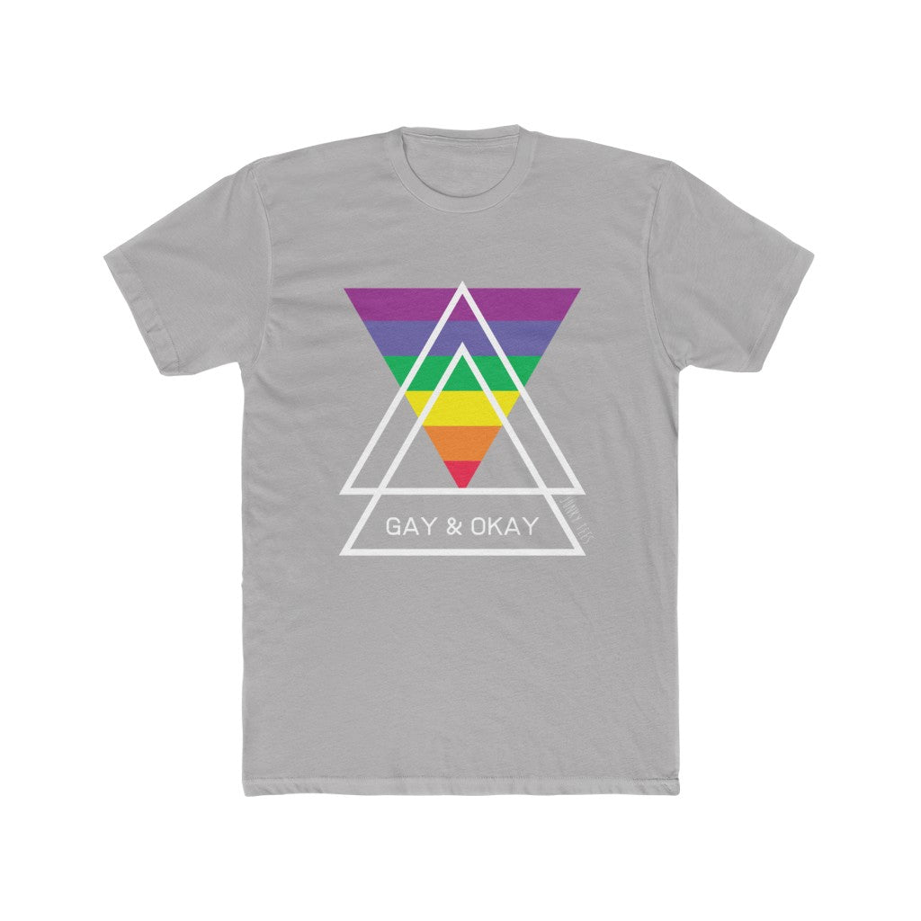Gay & Okay - Men's Cotton Crew Tee - Junky Tees