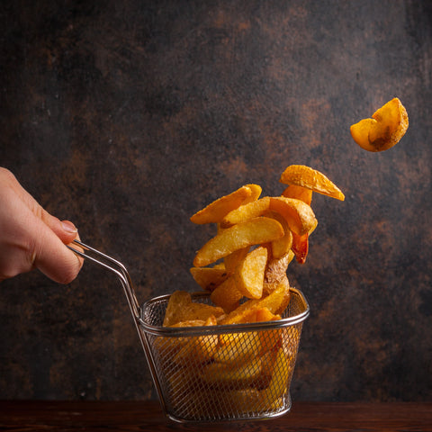 Potato Wedges, How to Clean Your Deep Fryer
