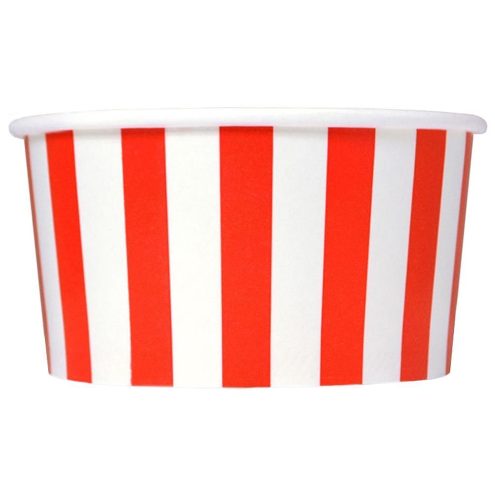 UNIQ 4 oz Red Striped Madness Take Out Cups