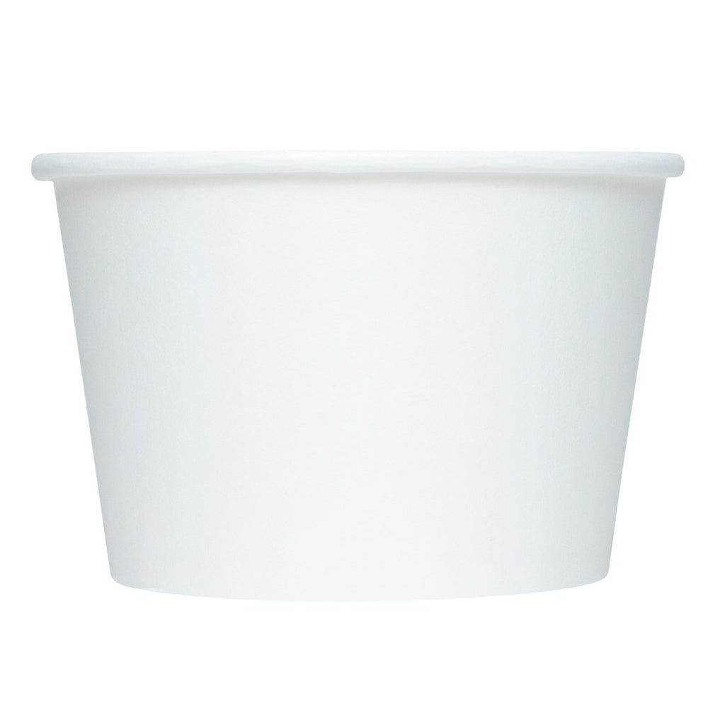 UNIQ 8 oz White Eco-Friendly Compostable Take Out Cups