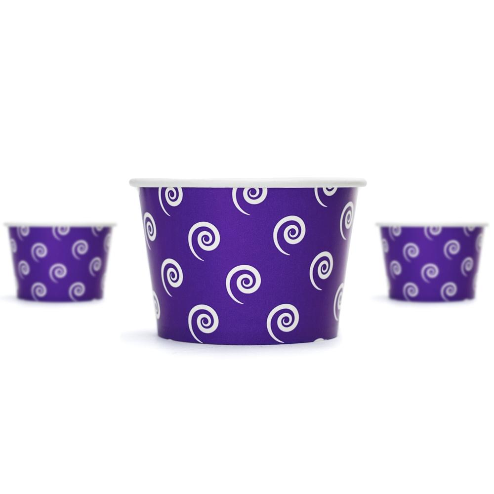 UNIQ 8 oz Purple Swirls and Twirls Take Out Cups
